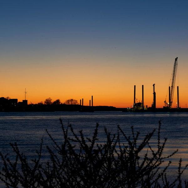 Warnemünde am Abend – Hafen