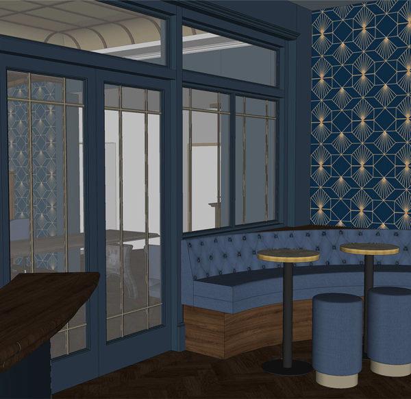 Entwurf Visualisierung des Hotels Bild 06 – Sitzecke