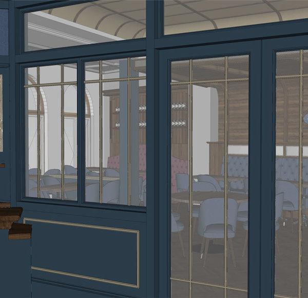 Entwurf Visualisierung des Hotels Bild 08 – Eingang Restaurant