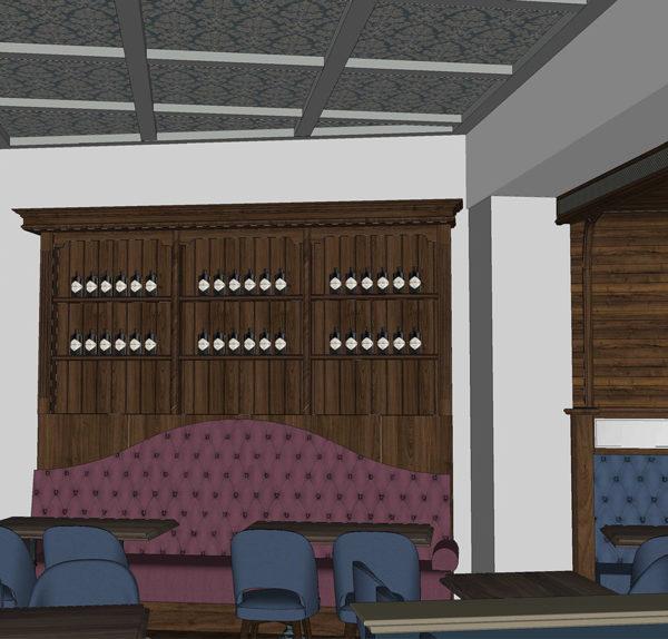 Entwurf Visualisierung des Hotels Bild 10 – Restaurantansicht