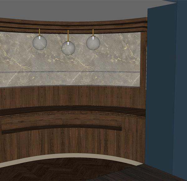 Entwurf Visualisierung des Hotels Bild 13 – Buffetbereich